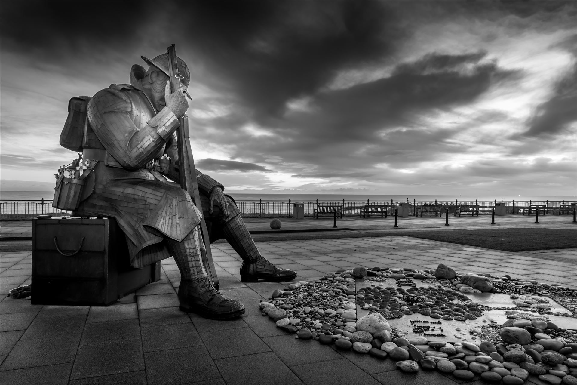 Mission 1101 `Tommy` - The steel statue, by local artist Ray Lonsdale, was so popular that people in Seaham began a campaign to buy it.