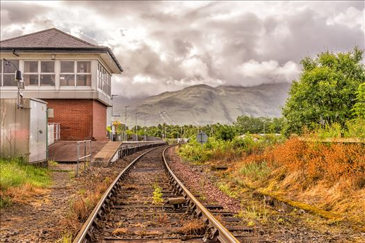 Down the lines - This was taken at Banavie, which is on the Fort William-Malaig line. This line was made famous in one of the Harry Potter films.