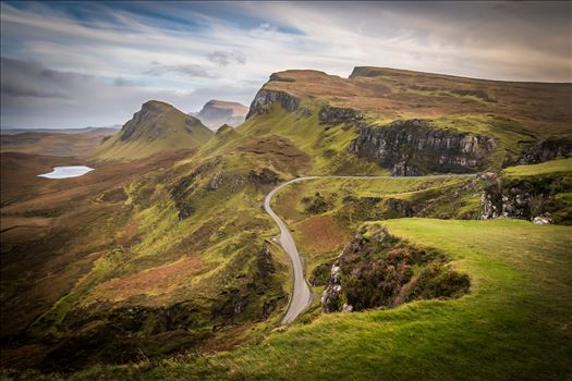 The Quiraing (2) - The Quiraing is a landslip on the northernmost summit of the Trotternish on the Isle of Skye. The whole of the Trotternish Ridge escarpment was formed by a great series of landslips, the Quiraing is the only part of the slip still moving.