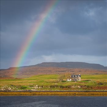 Rainbow over Loch Dunvegan on the Isle of Skye -