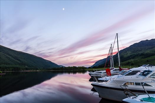 Sunset at Laggan locks - Laggan is a small village in the Great Glen, in the Highland region of Scotland, is situated between Loch Lochy and Loch Oich on the Caledonian Canal.