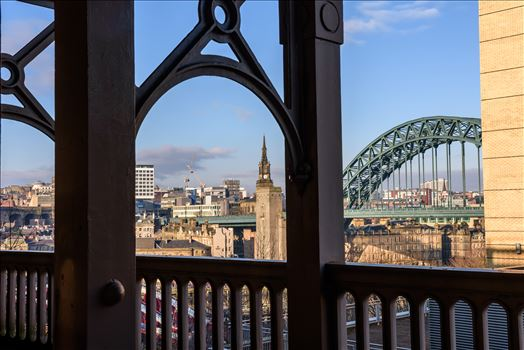 Looking across to the Tyne Bridge from the High Level Bridge.