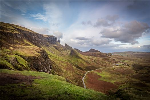 The Quiraing (3) - The Quiraing is a landslip on the northernmost summit of the Trotternish on the Isle of Skye. The whole of the Trotternish Ridge escarpment was formed by a great series of landslips, the Quiraing is the only part of the slip still moving.
