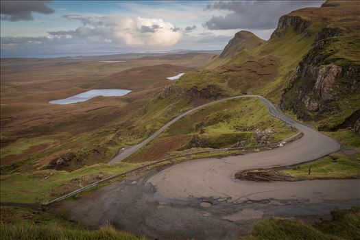 The Quiraing (4) - The Quiraing is a landslip on the northernmost summit of the Trotternish on the Isle of Skye. The whole of the Trotternish Ridge escarpment was formed by a great series of landslips, the Quiraing is the only part of the slip still moving.