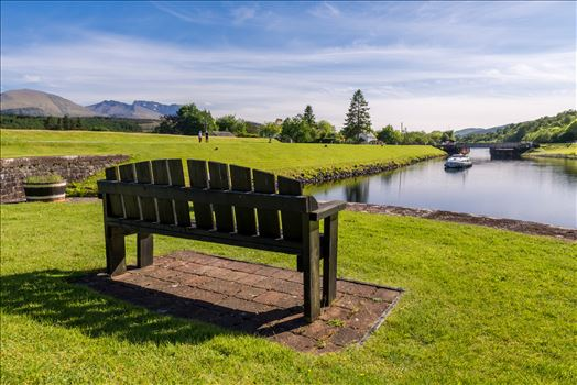 A seat with a view - Overlooking the Caladonian canal at Kytra Locks, the seat provides stunning views towards Ben Nevis
