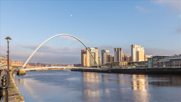 The Millennium Bridge was first opened in 2001 & spans the River Tyne between Newcastle & Gateshead.