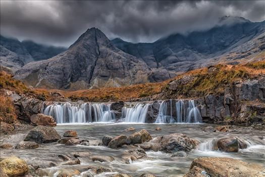 The Fairy Pools, Skye - The Fairy Pools are a natural waterfall phenomenon in Glen Brittle on the Allt Coir' a' Mhadaidh river on the Isle of Skye.