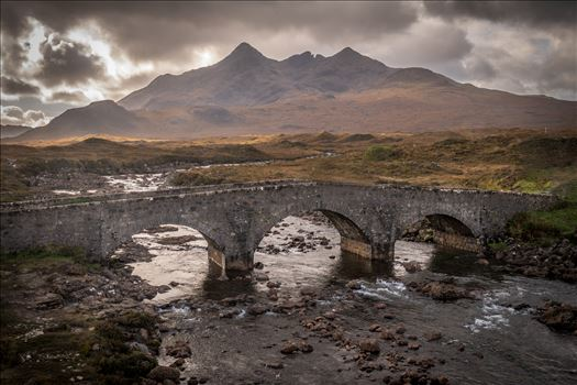 Sligachan Bridge, Isle of Skye (2) - Sligachan is situated at the junction of the roads from Portree, Dunvegan & Broadford on the Isle of Skye. The Cullin mountains can be seen in the background.