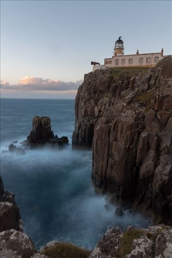 Neist Point lighthouse, Skye - Neist Point is one of the most famous lighthouses in Scotland and can be found on the most westerly tip of Skye near the township of Glendale.