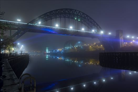 Shot on the quayside at Newcastle early one foggy morning
