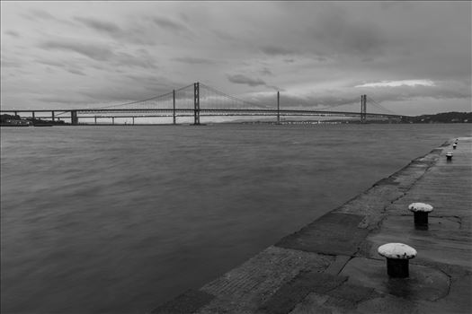 New & old - Pictured here are the new & old road bridges across the Firth of Forth nr Edinburgh.