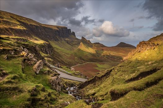 The Quiraing (1) - The Quiraing is a landslip on the northernmost summit of the Trotternish on the Isle of Skye. The whole of the Trotternish Ridge escarpment was formed by a great series of landslips, the Quiraing is the only part of the slip still moving.