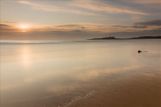Sunrise at Embleton Bay, Northumberland. (also in black & white) - Embleton Bay is a bay on the North Sea, located to the east of the village of Embleton, Northumberland, England. It lies just to the south of Newton-by-the-Sea and north of Craster