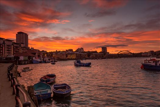 Sky on Fire - A fabulous sunset at Sunderland Fish Quay